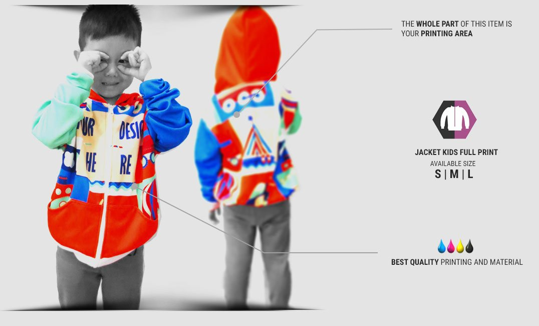 kids crewneck fullprint specification