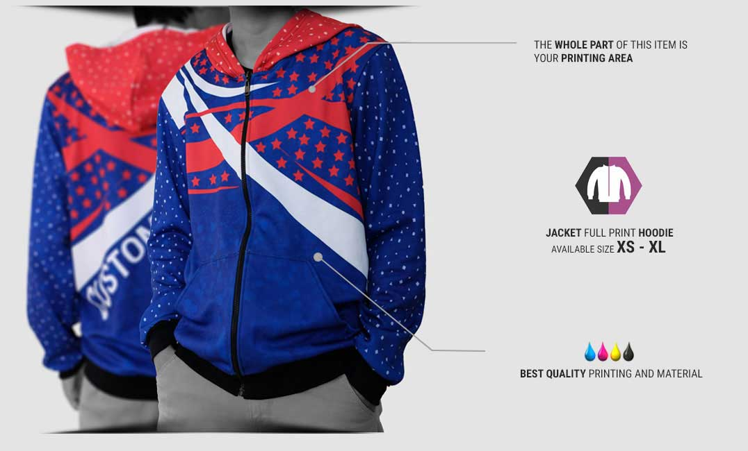 jacket zipper fullprint specification