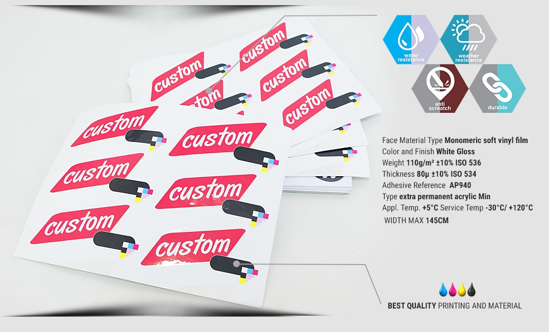 sticker sheets specification
