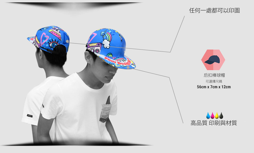 specification snapback hat