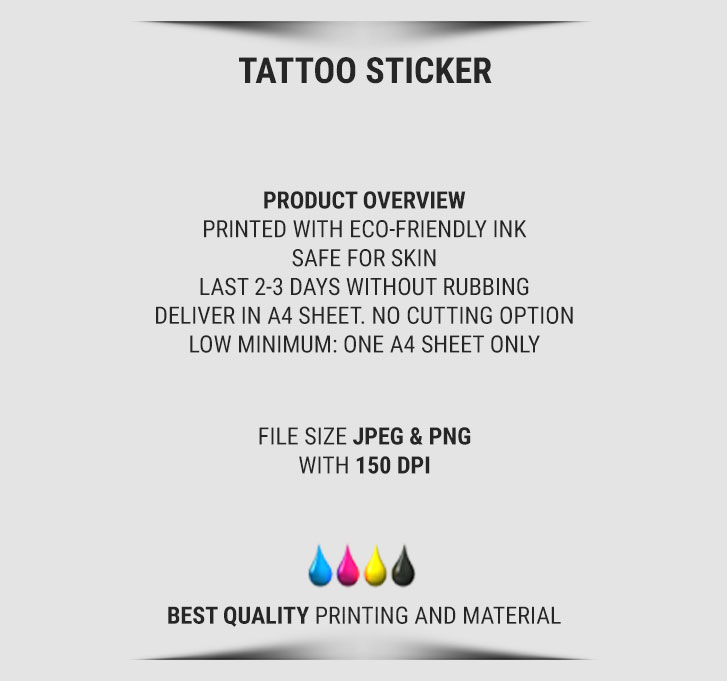 temporary tattoo sticker 3